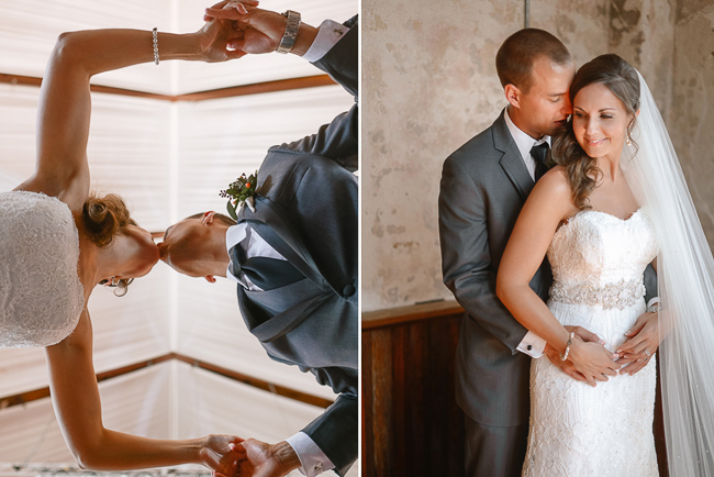 the bride and groom | photo: Photos by Kristopher | via https://emmalinebride.com