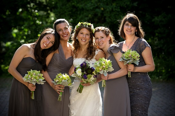 Dennis Drenner Photographs - baltimore museum wedding - bride with bridesmaids