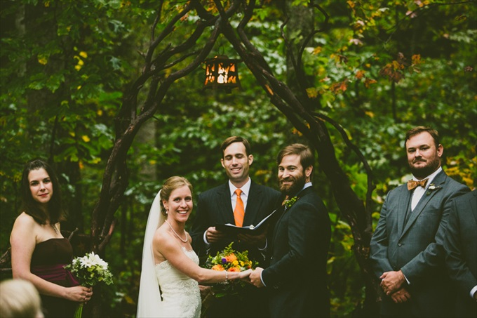 Carolyn Scott Photography | Unique Woodsy Wedding in North Carolina at Black Mountain Sanctuary - http://wp.me/p1g0if-xTG
