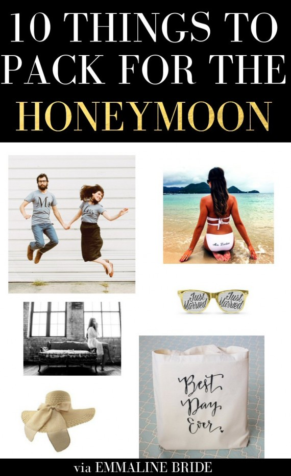 10 Things to Pack for the Honeymoon | http://emmalinebride.com/bride/pack-for-the-honeymoon/