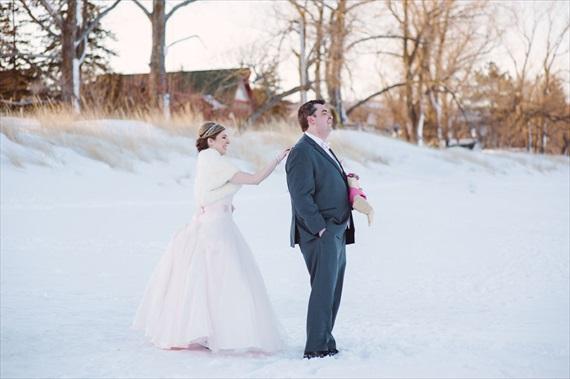 Duluth winter wedding | photo: LaCoursiere Photography - duluth winter wedding