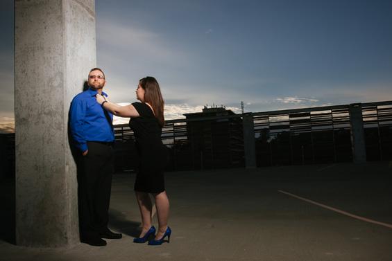 Parking Structure Engagement Session - Vinson Images, LLC