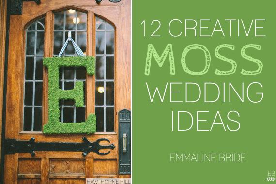 12 creative moss wedding ideas