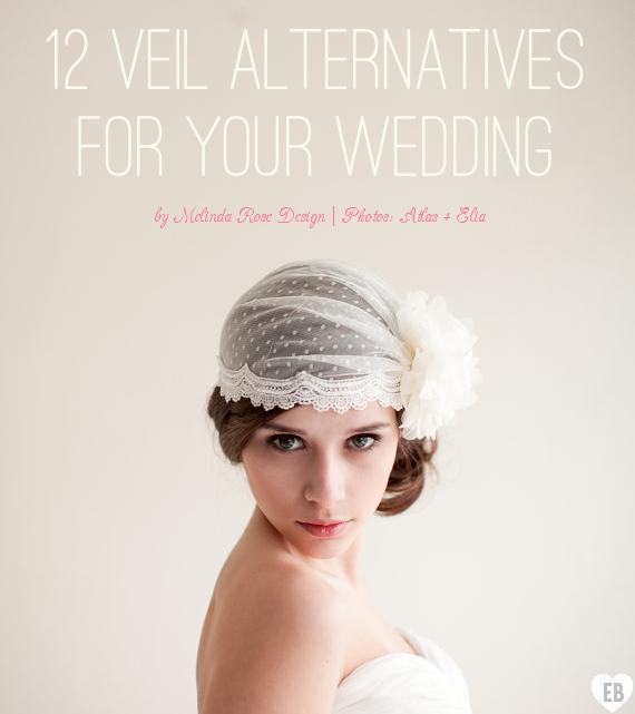 Veil Alternatives - 12 Ways to Wear 'Em (via EmmalineBride.com, veil alternative by Melinda Rose Design, photo by Atlas & Elia Photography) #handmade #wedding #veil