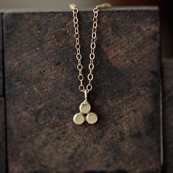 trinity necklace 14k gold