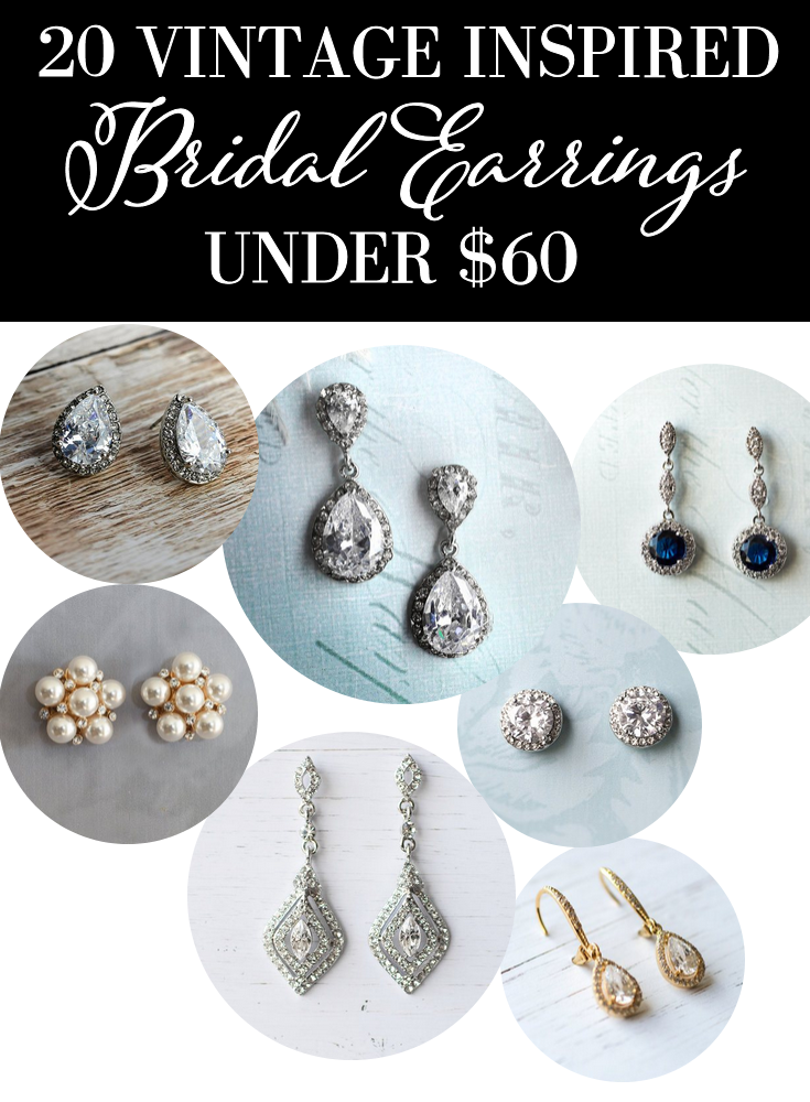 20 Vintage Inspired Bridal Earrings | https://emmalinebride.com/bride/vintage-inspired-bridal-earrings/