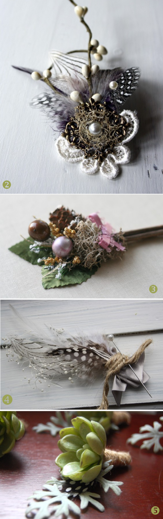 creative wedding boutonnieres