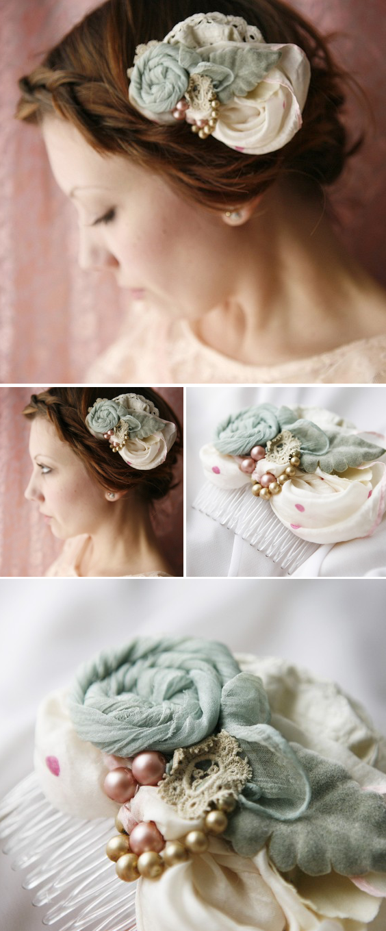 handmade wedding haircomb