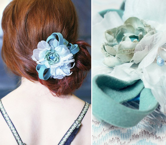 handmade haircomb in blue