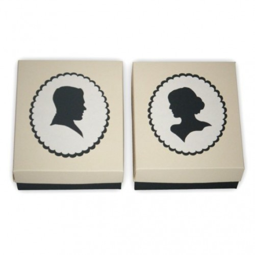 cameo silhouette favor boxes