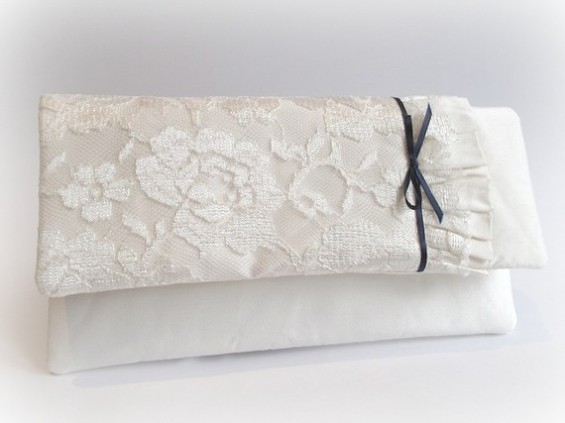 handmade wedding clutch