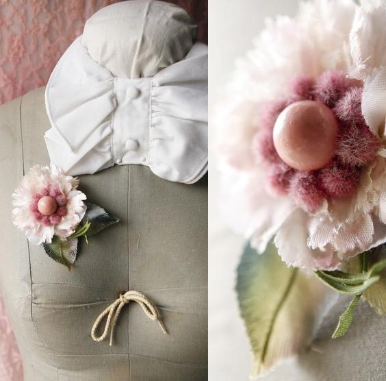 handmade pink corsage