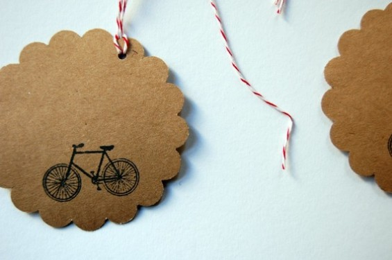 bicycle favor tags