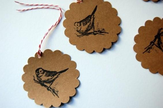 bird favor tags