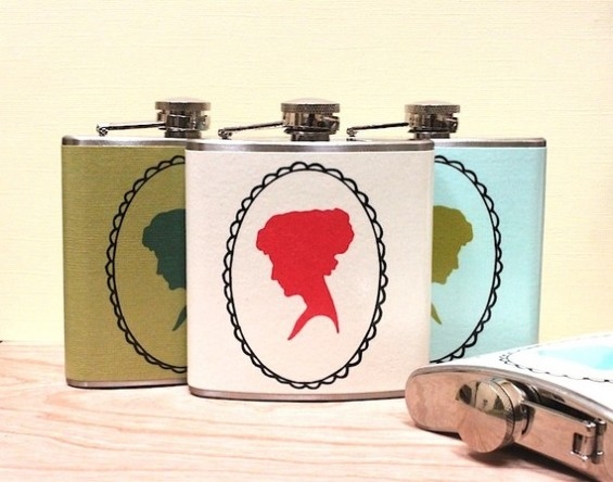 cameo flasks for bridesmaids
