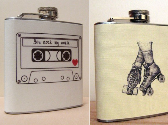 cassette tape flask roller skates flask for bridal party