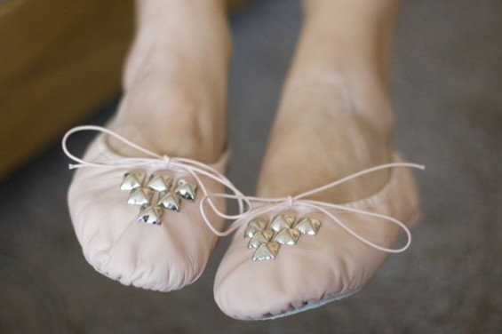 pink ballet slippers