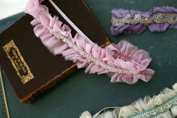 pink ruffle garter