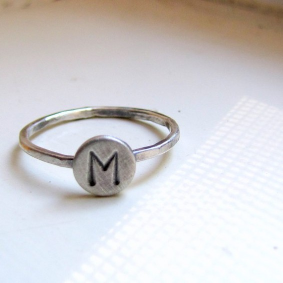 rustic initial ring