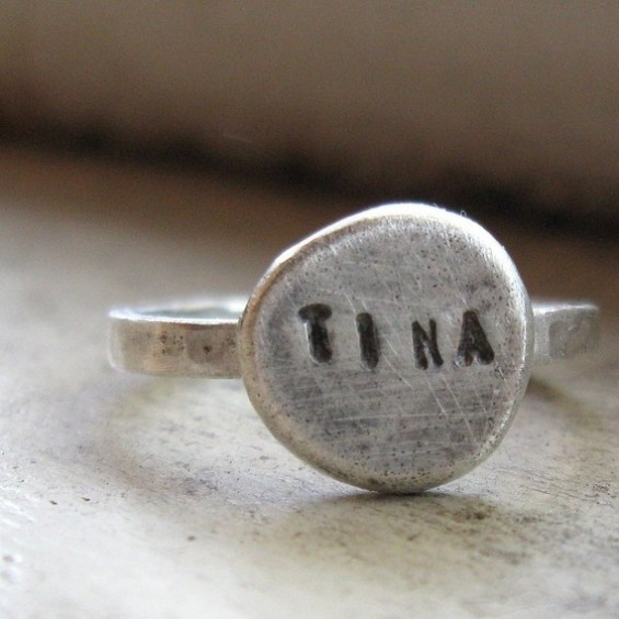 personalized name ring bridesmaid gifts by tina h dee