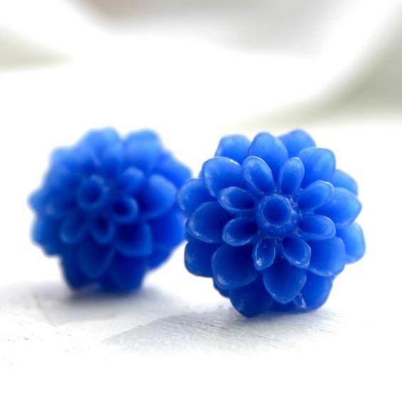 royal blue bridesmaid earrings