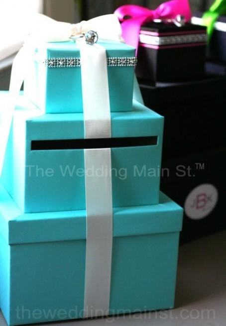 tiffany blue wedding card boxes
