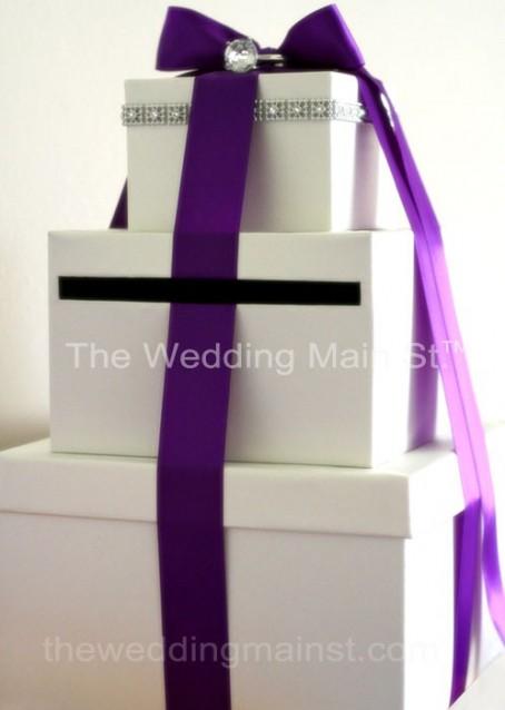 white wedding card boxes
