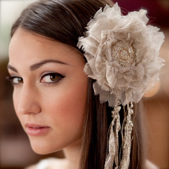 bridal veil alternative metallic silk blossom