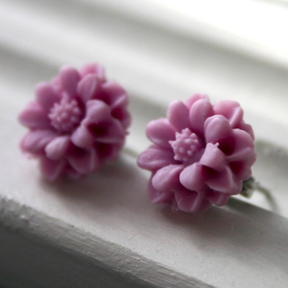 lilac bridesmaid earrings