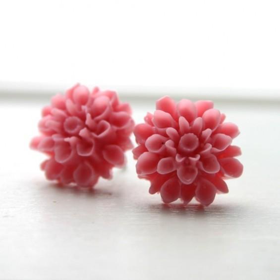 soft pink bridesmaid earrings