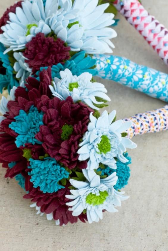 felt bridal bouquets