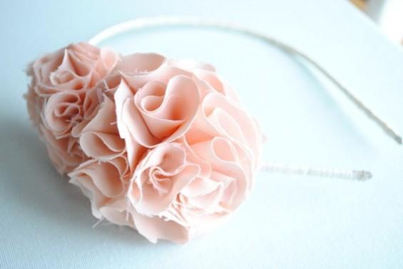 pink ruffly headband