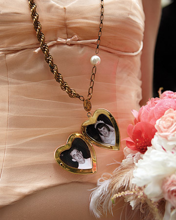 whimsical wedding locket for the bride