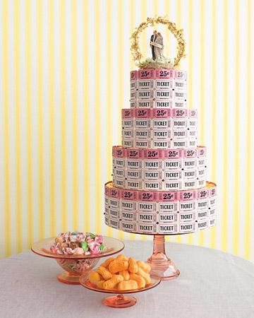 raffle ticket wedding cake