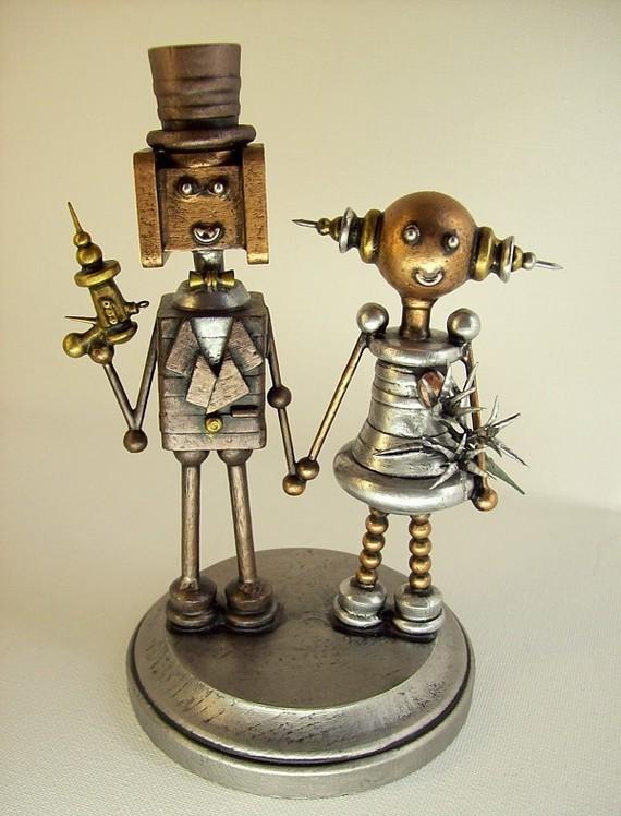 Robot Cake Toppers | Emmaline Bride