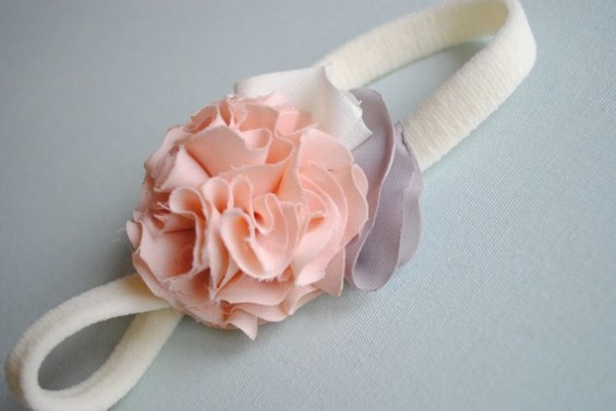 simple ruffle headband for babies girls or adults