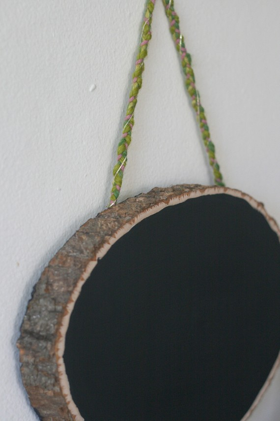 woodland chalk board