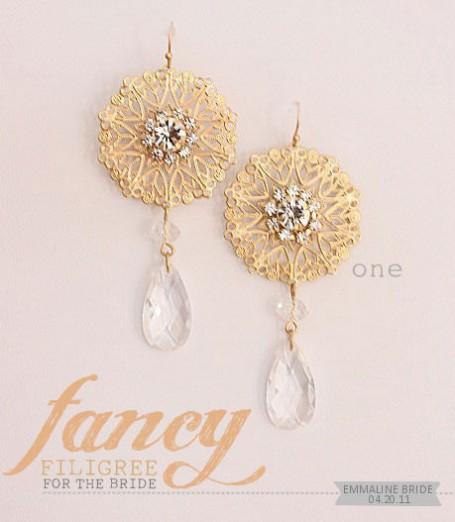 filigree bridal jewelry