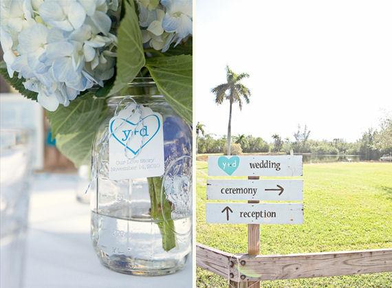 real wedding details - mason jar centerpieces