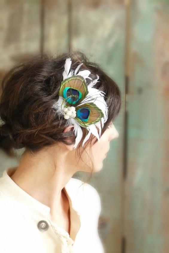 peacock feather fascinator