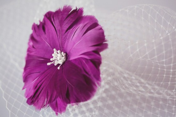 purple hair piece