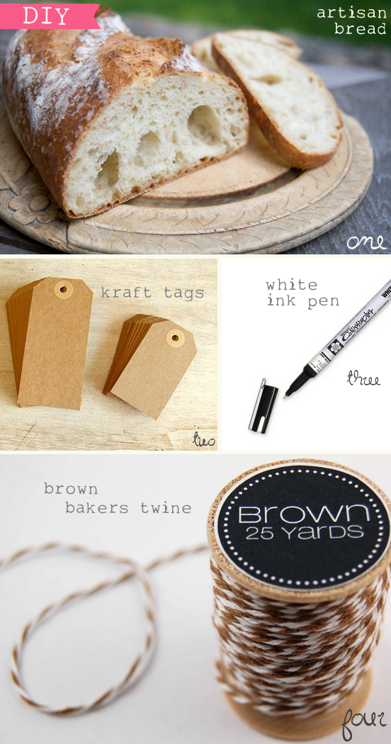 bread loaf place cards