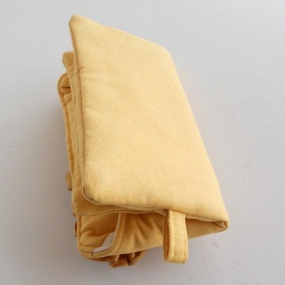 yellow clutch purse back