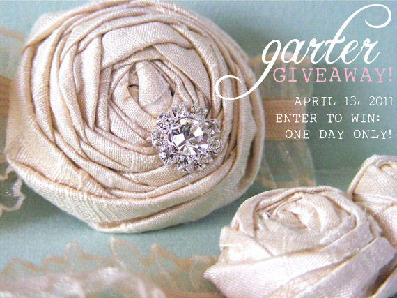 bridal garter giveaway