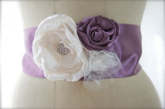 purple dress sashes
