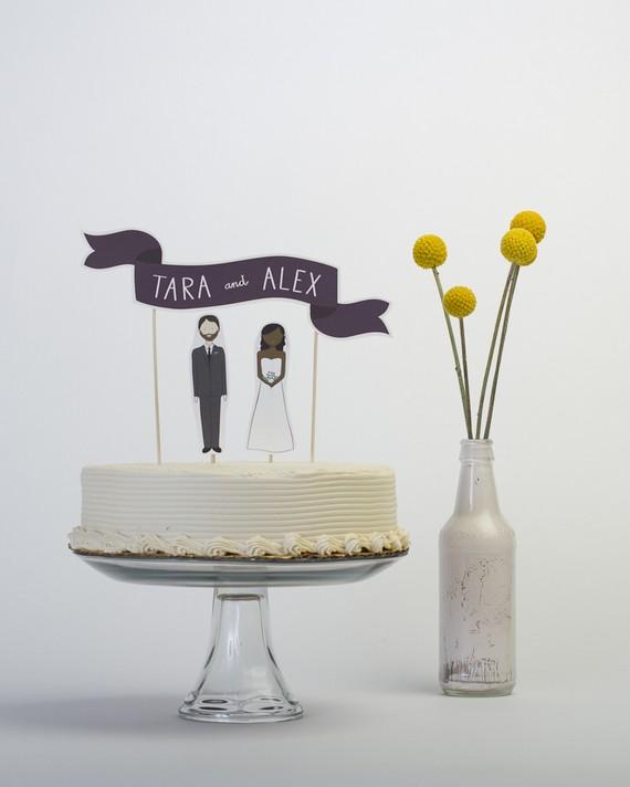 handmade cake topper - 1