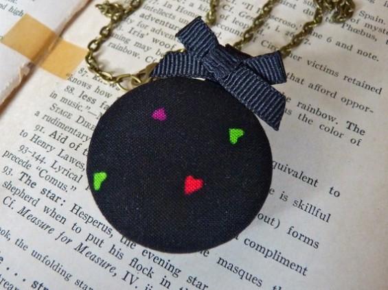 bridesmaid locket with hearts