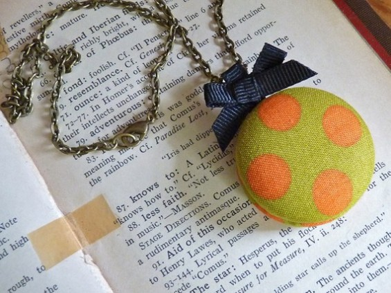bridesmaid locket with yellow and orange