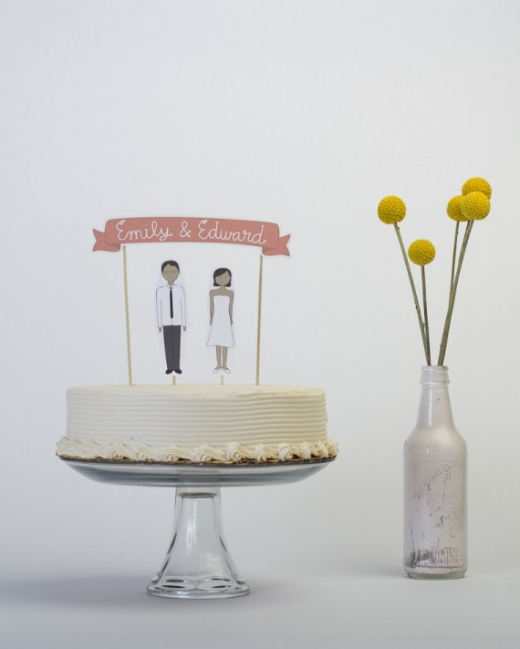 handmade cake topper - 2