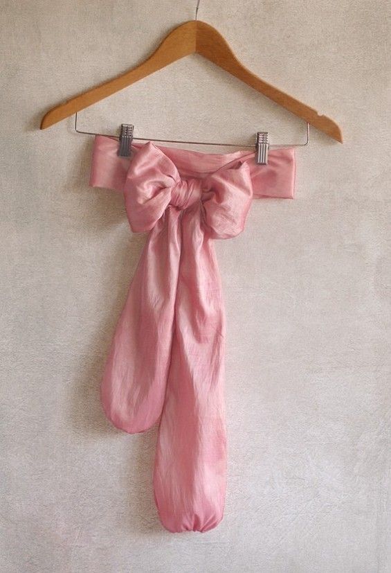 pink dress sashes